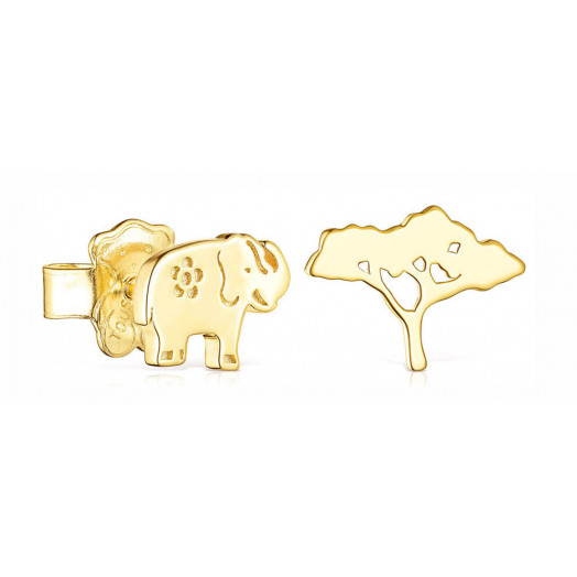 Pendientes Save Elefante -...